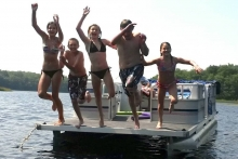 Kids on pontoon, Suzanne