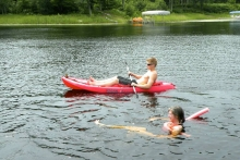 fun in lake Shover