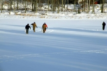 going ice fishing Shover
