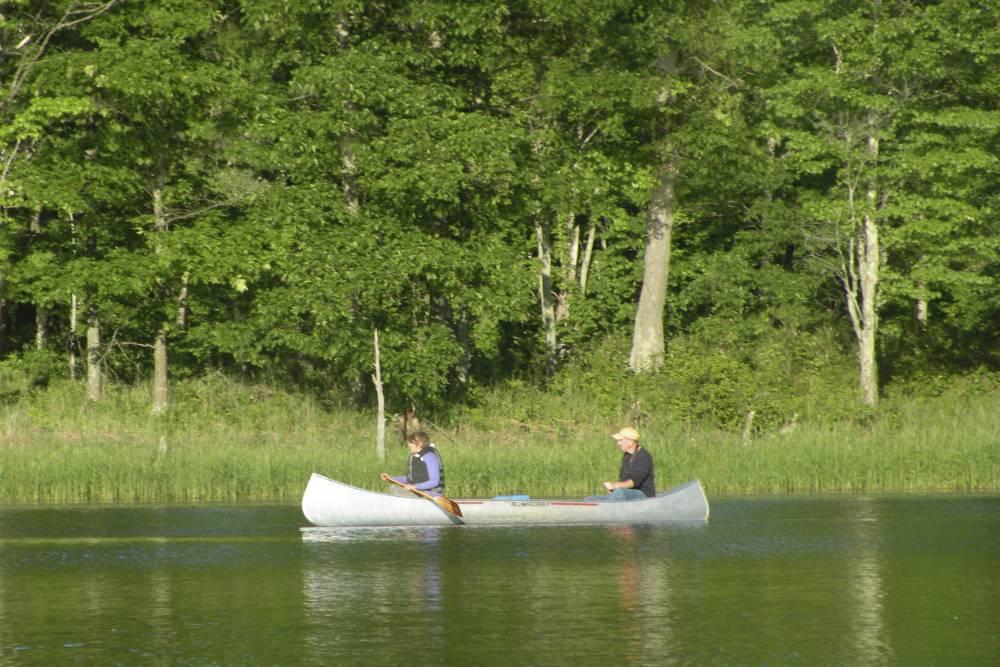 canoe on Little Ripley Shover