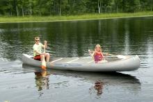 in canoe Shover
